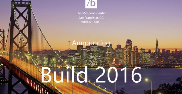 Build 2016 dates announced