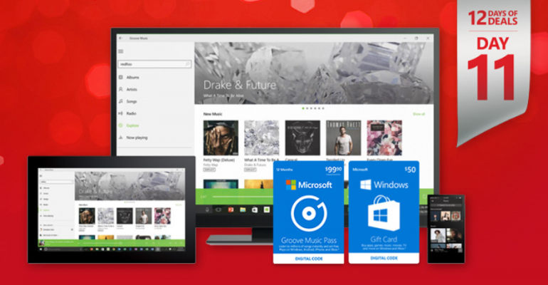 Buy a Groove Music Pass and get a $50 Windows Gift Card