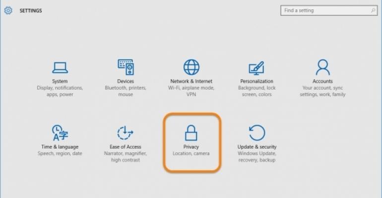 Windows 10 telemetry gathering