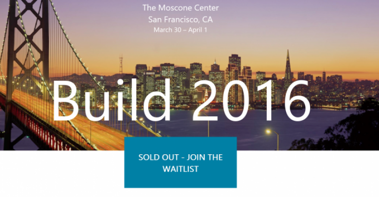 BUILD 2016 sells out in just 1 minute