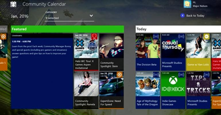 Community Calendar App for Xbox One Now Ready for Everyone