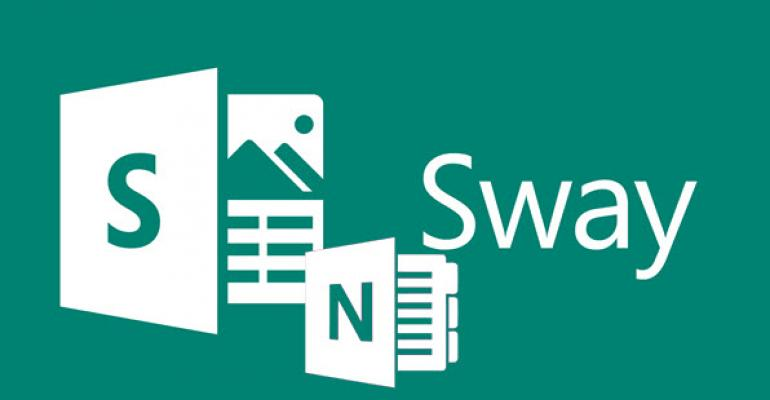 Send to Sway OneNote Integration Now Available in Preview
