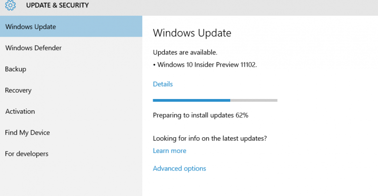 Windows 10 Insider Build 11102 now available with one new feature included