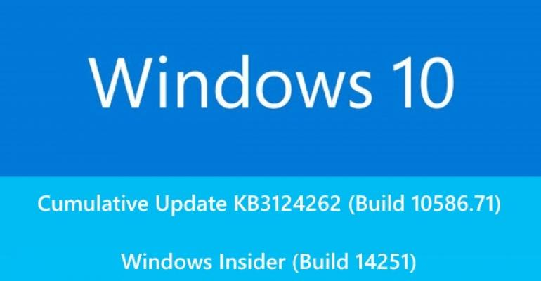 Windows 10 Updated for Regular Release Users and Windows Insiders