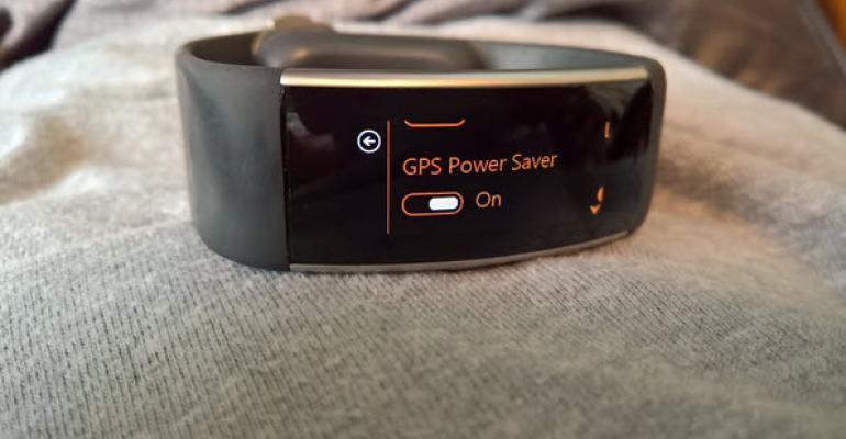 Locating and Using the GPS Power Saver in Microsoft Band 2