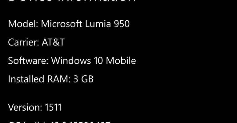 Windows 10 Mobile Build 10586.107 Available for Windows 10 Lumia Hardware
