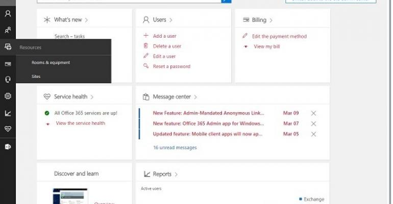 Office 365 Admin Center switches to jazzy new interface