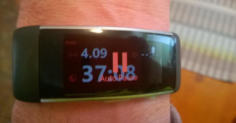 Microsoft Band Auto Pause in Practice