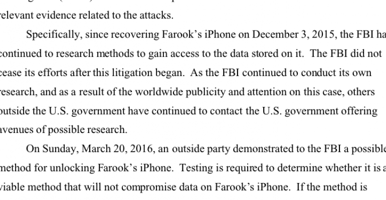 DOJ delays Apple fight after outside party offers help cracking iPhone