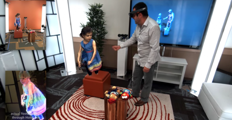 Microsoft offers a new peek at what HoloLens could do: Holoportation