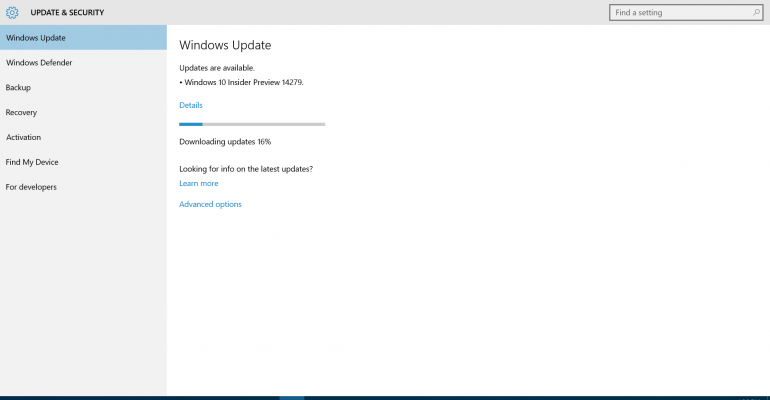 Windows 10 Insider Preview Build 14279 Released to Fast Ring