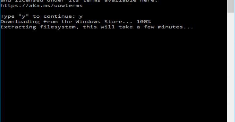 Enable Bash on Windows 10