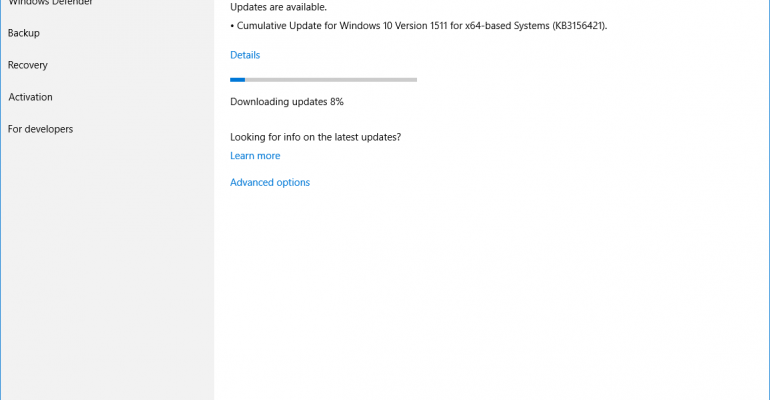 Windows 10 Current Branch Upgraded to Build 10586.318 with May Cumulative Update