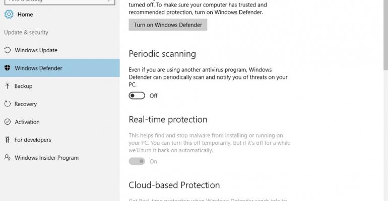 What is Windows 10 Anniversary Edition's Limited Periodic Scan?