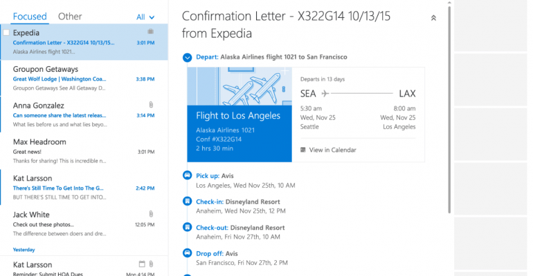Outlook Now Automatically Adds Travel, Delivery Notifications to Your Calendar