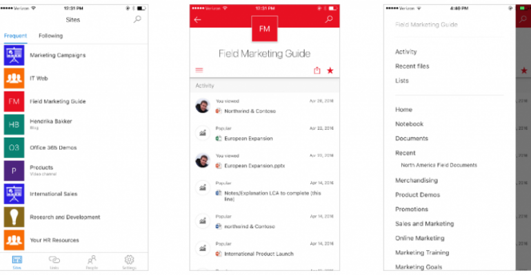 SharePoint mobile app for iOS now available