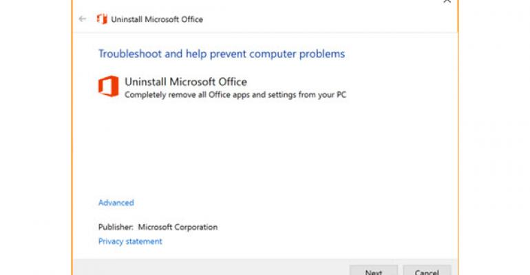 Uninstall Office 2016, Office 2013, or Office 365 Using the Easy Fix Tool