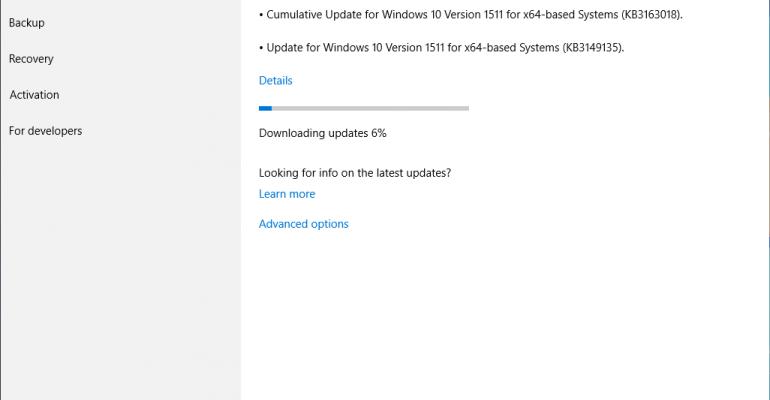 Windows 10 CB Updated to Build 10586.420 with Cumulative Update KB3163018