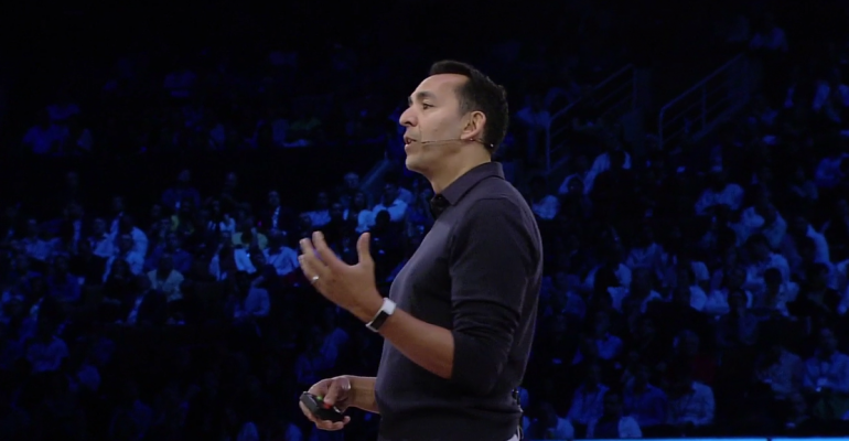 First Look at a White Microsoft Band at WPC
