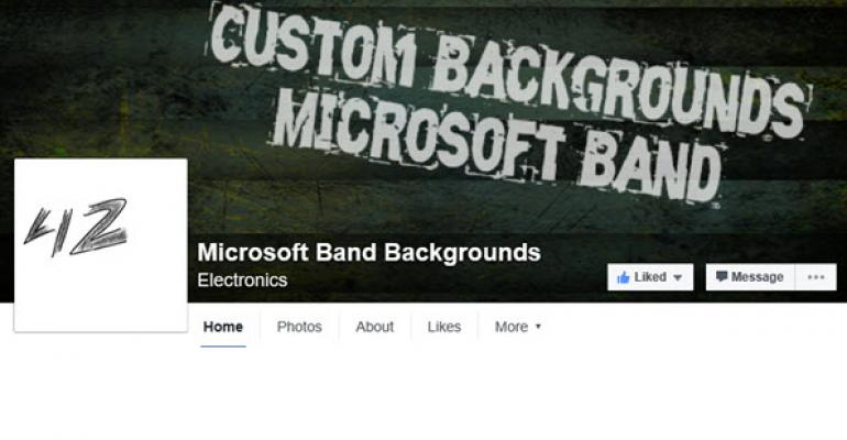Hi-quality Custom Microsoft Band 2 Backgrounds on Facebook
