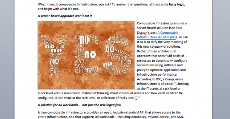 When It Comes to Composable Infrastructure, Beware the Oxymorons