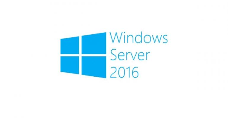 How is the configuration level changed in Windows Server 2016?