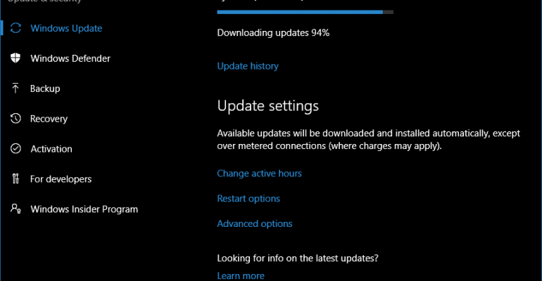 Windows 10 Anniversary Update Receives its First Public Cumulative Update