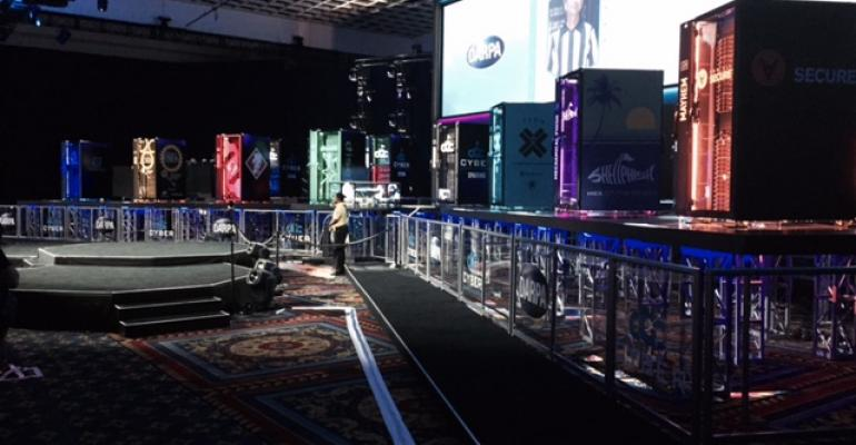 The stage at the Cyber Grand Challenge at DEF CON 24