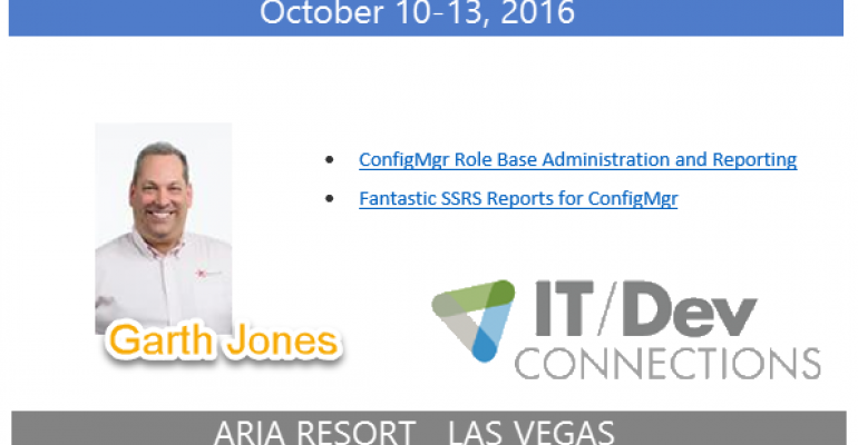 IT/Dev Connections 2016 Speaker Highlight: Garth Jones