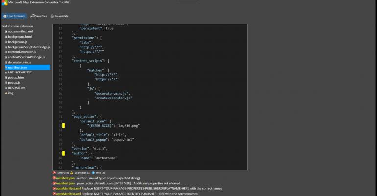 Microsoft Edge Extension Toolkit UWP App Released