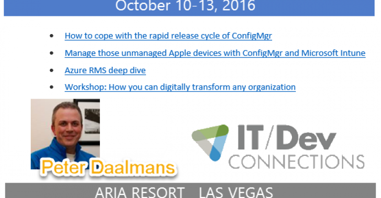 IT/Dev Connections 2016 Speaker Highlight: Peter Daalmans