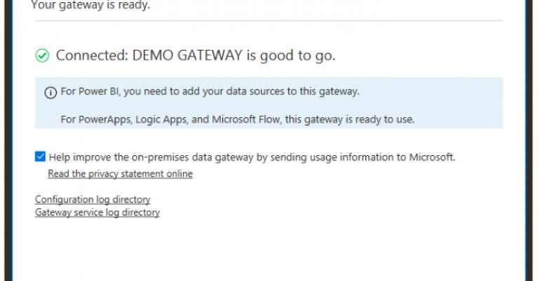 Power BI Connected to On-Premises Data