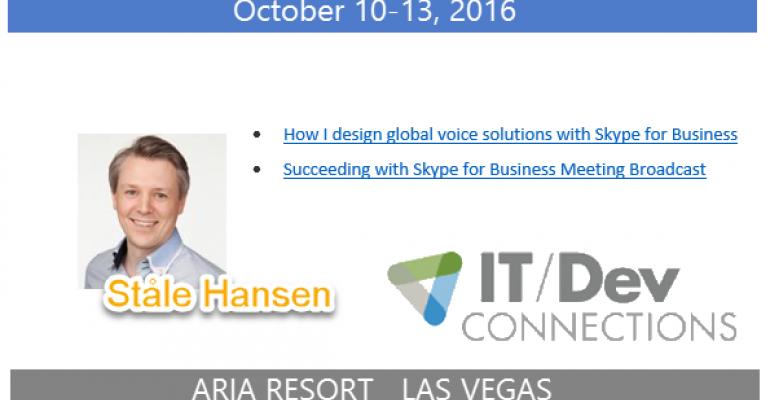 IT/Dev Connections 2016 Speaker Highlight: Ståle Hansen