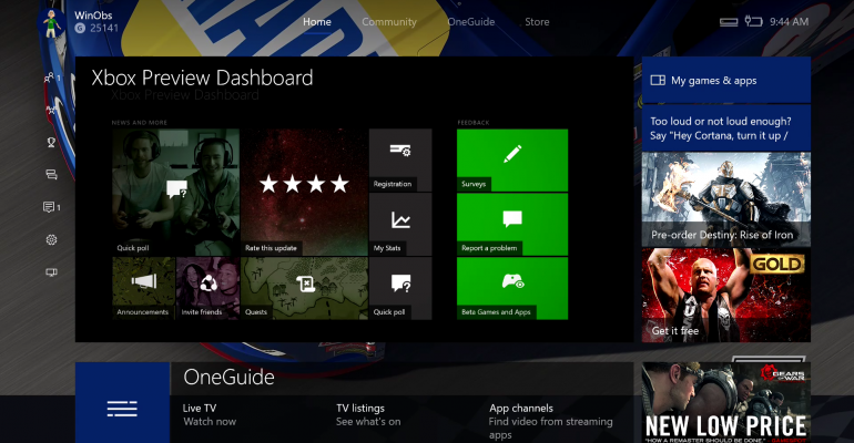 Xbox One Game Previews Coming to Windows 10