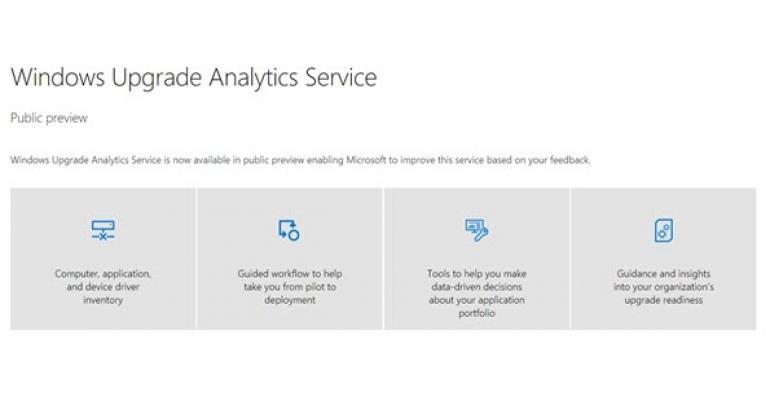 Microsoft Delivers Windows Upgrade Analytics Service to Public Preview