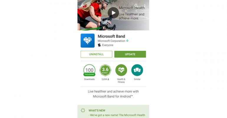 Microsoft Health Becomes Microsoft Band