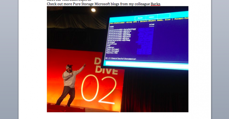 Meet Pure Storage at Microsoft Ignite 2016!