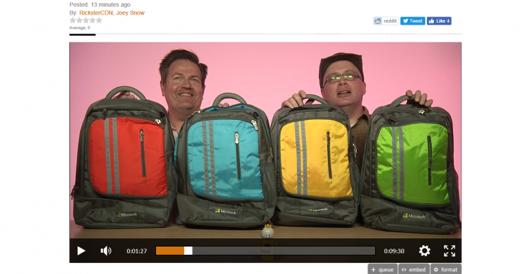Microsoft Ignite: The Attendee Backpack Swag Hands On Review