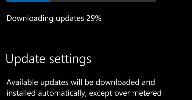 How to Fix the Windows 10 Mobile Build 14951 Stuck with Update Downloading at 0% Issue