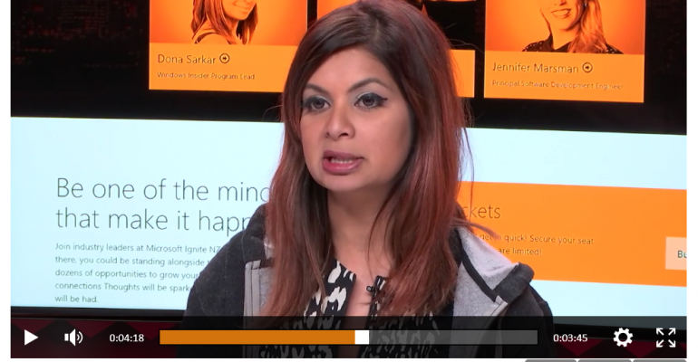 Hear from Dona Sarkar about Windows Insiders & her upcoming Microsoft Ignite New Zealand Keynote