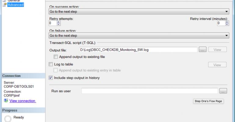 Sending Results of DBCC CHECKDB SQL Agent Job Via Email