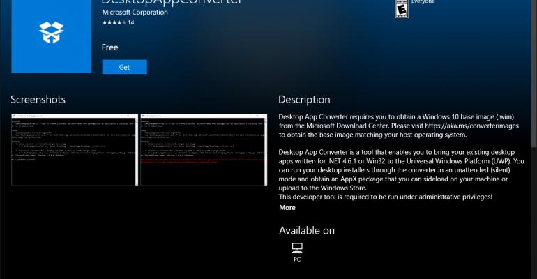Microsoft Updates Desktop App Converter Base Images and Documentation