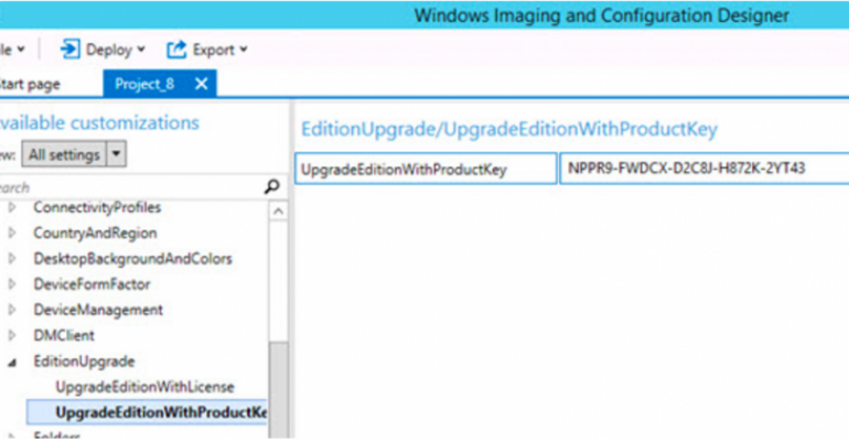 Use Windows Imaging and Configuration Designer to create packages to update SKU of Windows 10