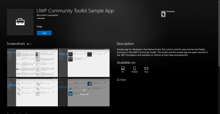 Universal Windows Platform (UWP) Community Toolkit Updated to Version 1.2
