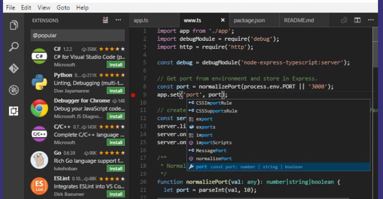 Visual Studio Code Version 1.7 Released with October Updates