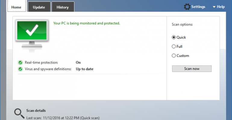 Windows Defender Actually Plays Nice with Third Party Security Software Products