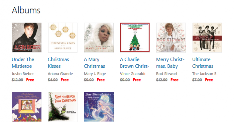 Groove Music Pass Subscribers - Stock up on Free Christmas Music