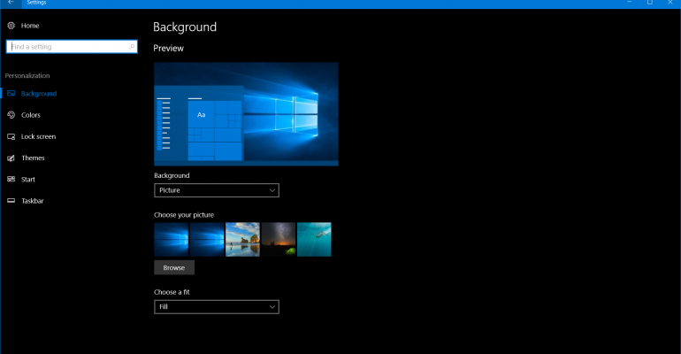 How to use the Windows 10 Themes that are now Available in the Windows Store
