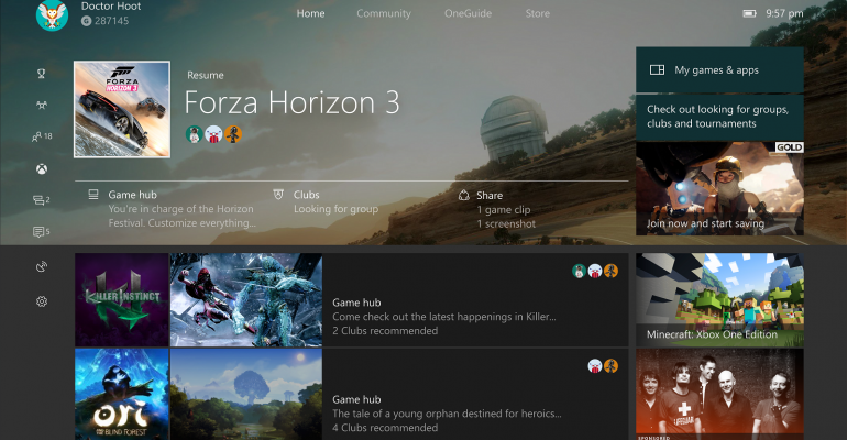 Microsoft Begins Testing Creators Update on Xbox One; Re-Opens Build Preview Program