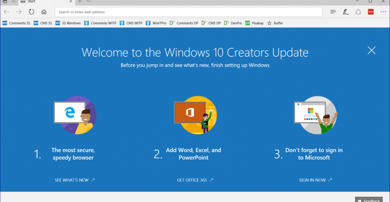 Windows 10 Creators Update is Feature Complete According to Microsoft